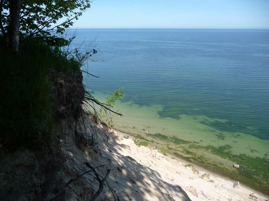 Traumhafter Blick auf die Ostsee vom Hochufer Wanderweg Sellin
