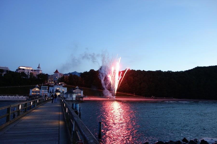 Hochzeitsfeuerwerk an der Seebrücke