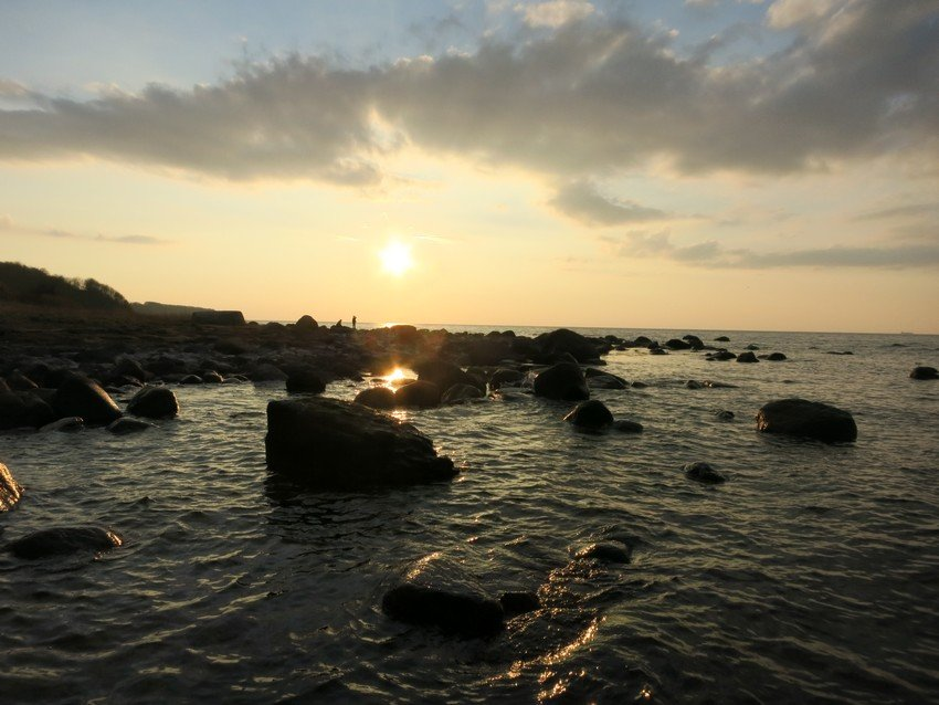 Rügen Impressionen: Sonnenuntergang in Dranske