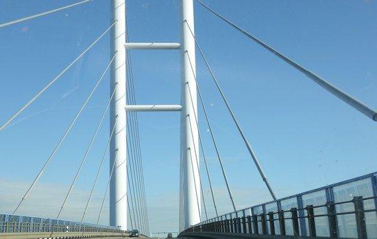 Rügenbrücke: Teil der Brückenfahrt
