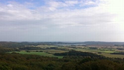 Ausblick vom Turm des Jagdschlosses Granitz auf das Ostseebad Sellin