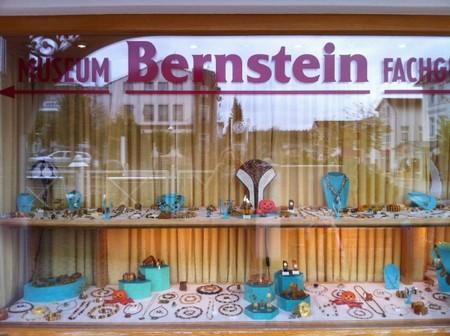 Bersteinmuseum in Sellin - Schaufenster