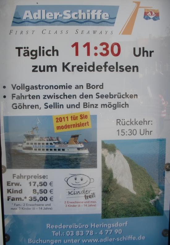 Bootsausflüge Sellin - Adler Schiffe