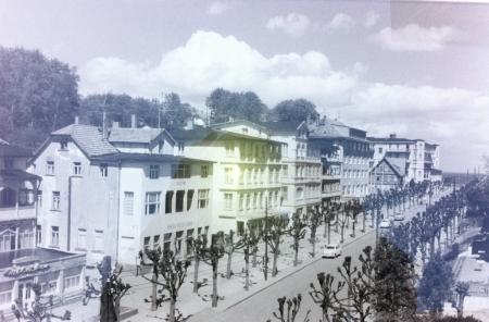 Historisches Foto der Wilhelmstraße in Sellin
