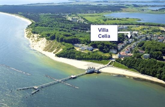 Ideal für Familien mit Kindern - Strandnahe Lage der Villa Celia im Ostseebad Sellin