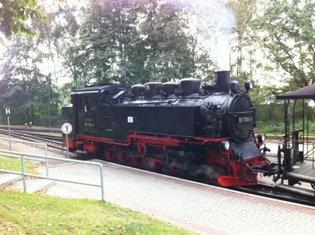 Sellin Ausflug - Anfahrt zum Jagdschloss Granitz mit Rasendem Roland