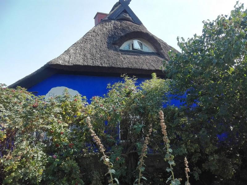 Blaue Scheune Hiddensee von Henni Lehmann