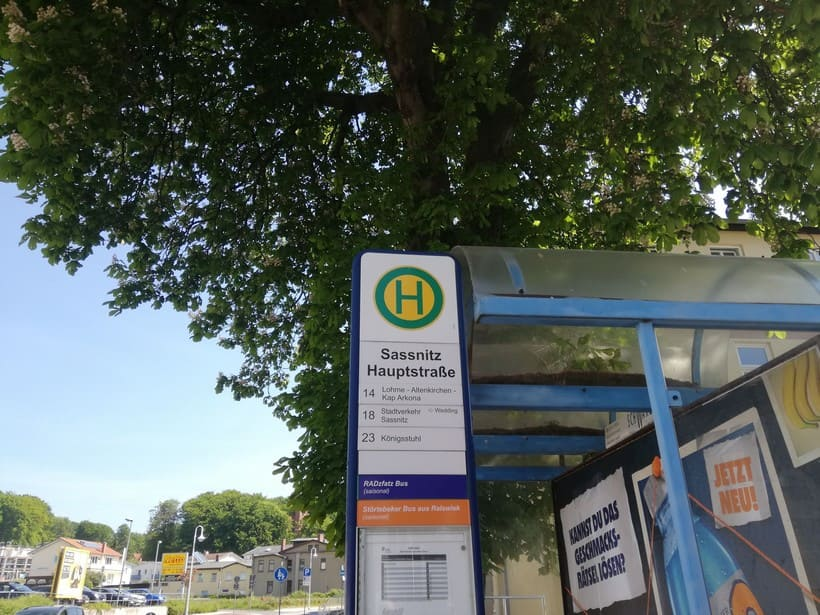 Bushaltestelle in Sassnitz