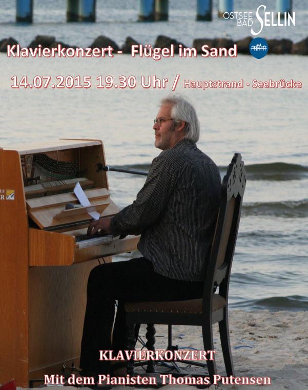 Klavierkonzert Flügel im Sand