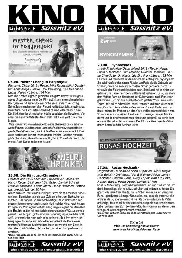 Programm Filmlichtspiele Sassnitz e.V.