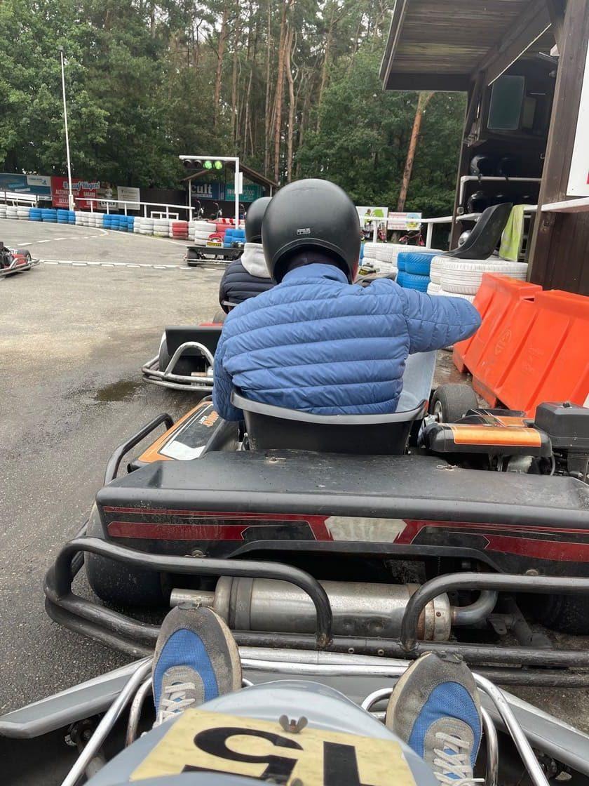 Boxenstopp beim Go-Kart