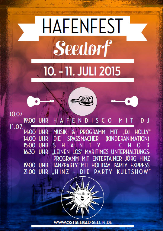 Hafenfest in Seedorf 2015