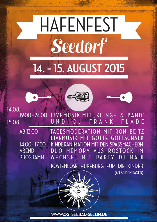Hafenfest Seedorf August 2015