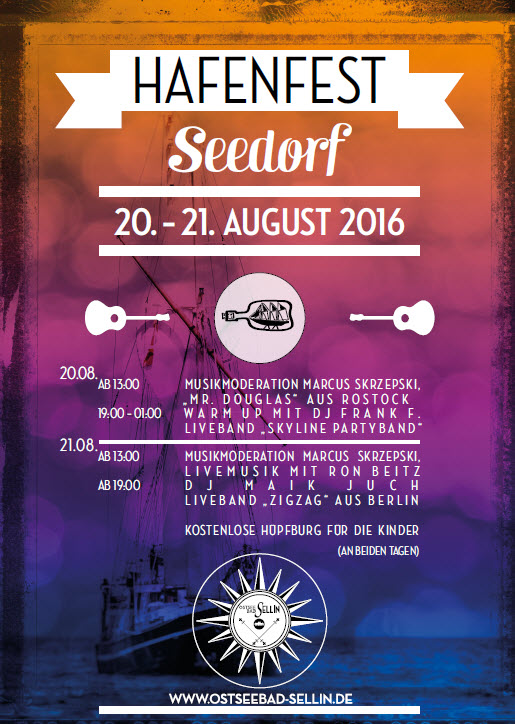 Hafenfest Seedorf August 2016