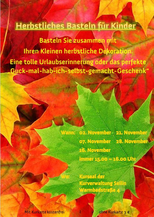 Herbstliches Basteln Sellin im November 2017
