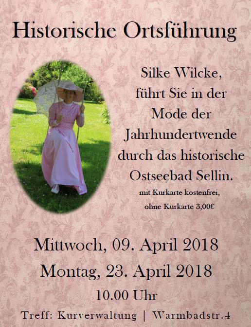 Historische Ortsführung durch Sellin im April 2018