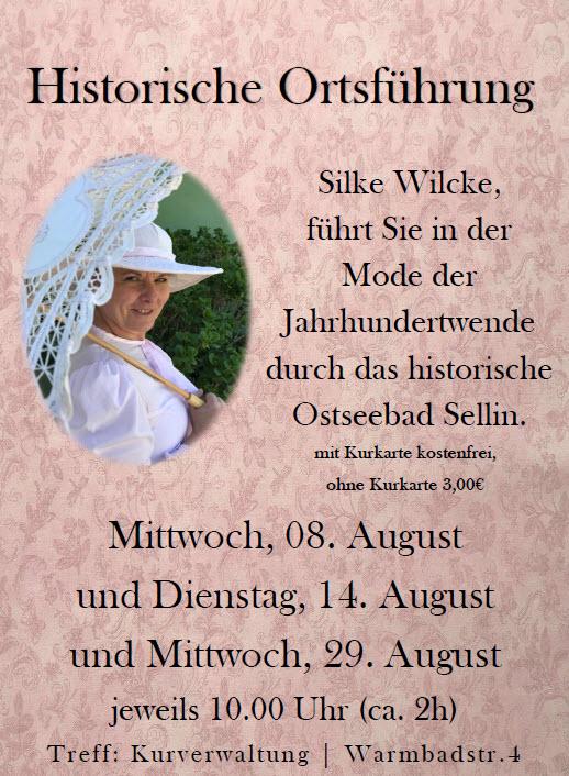 Historische Ortsführung in Sellin August 2018