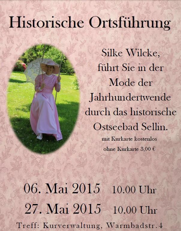 Historische Ortsführung am 06. und 27. Mai in Sellin