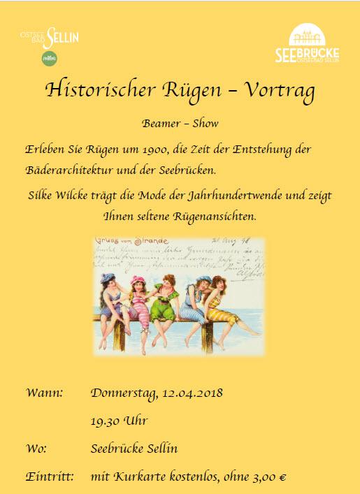 Historischer Vortrag über Rügen im April 2018