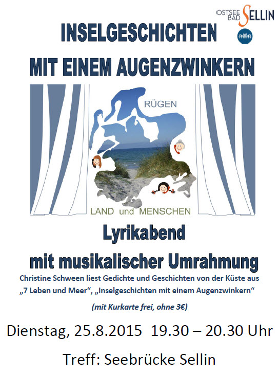 Lyrikabend Sellin: Inselgeschichten August 2015