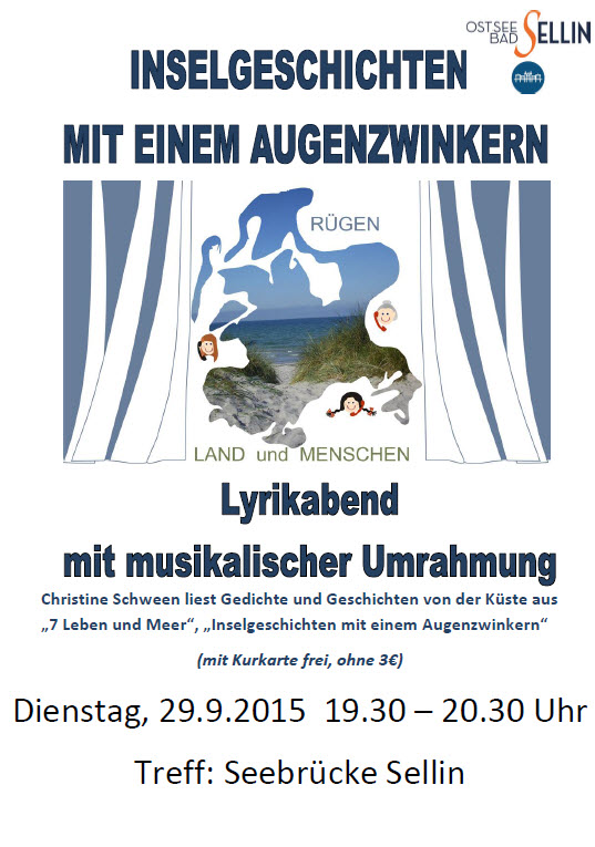 Inselgeschichten, Lyrikabend September 2015