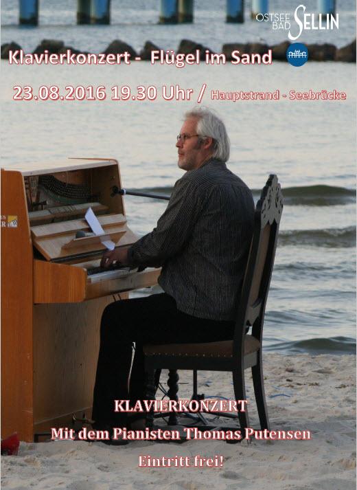 Klavierkonzert - Flügel im Sand August 2016