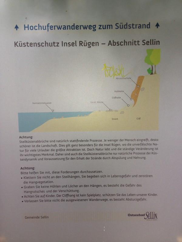Infotafel Küstenschutz in Sellin