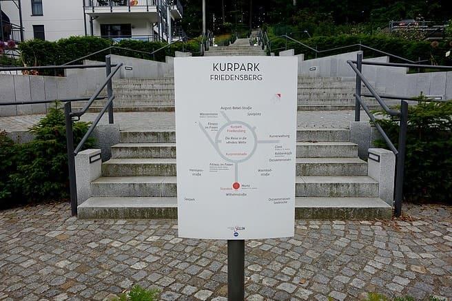 Aufstieg zum Kurpark Friedensberg