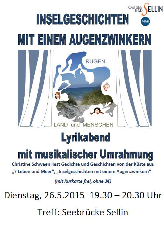 Lyrikabend mit Musik 26.05.2015