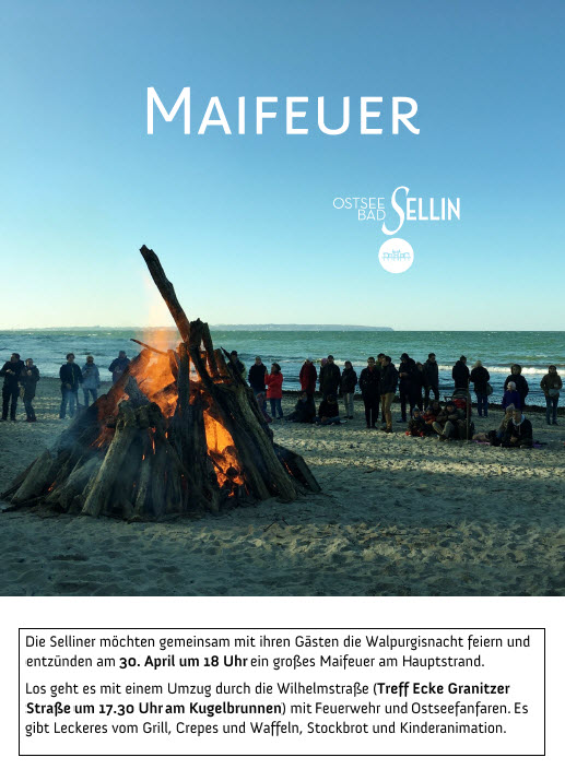 Maifeuer in Sellin