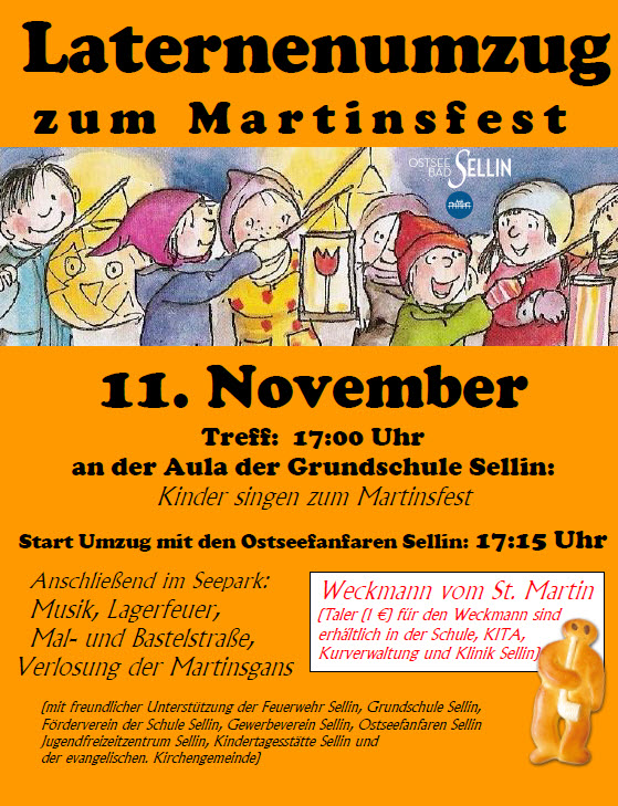 Martinsfest und Laternenumzug in Sellin