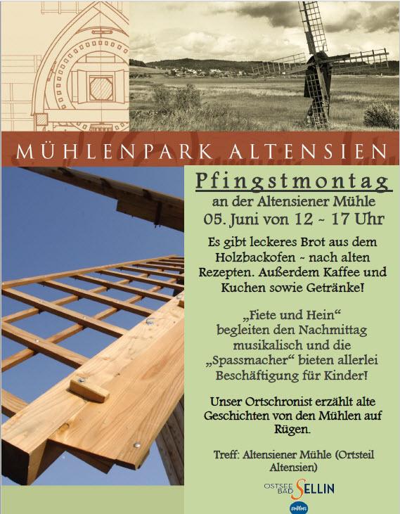 Pfingstmontag Mühlentag Altensien