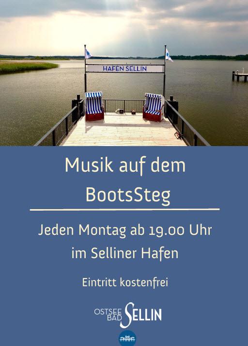 Musik auf dem Bootssteg im Selliner Hafen