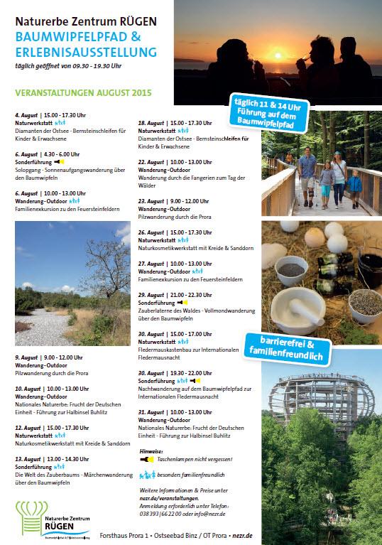Naturerbezentrum Prora Veranstaltungen August 2015