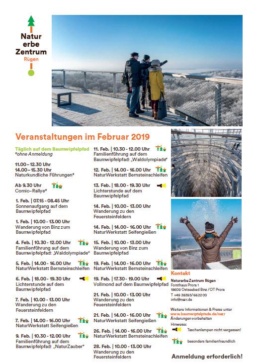 Veranstaltungen Baumwipfelpfad Prora Februar 2019