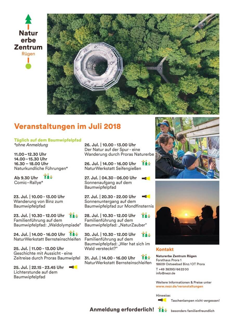 Juli 2018: Termine Naturerbezentrum