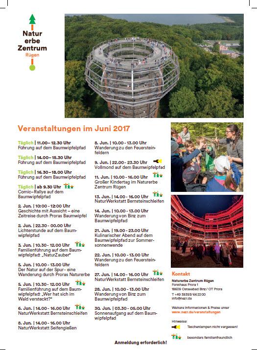 Naturerbezentrum Prora Veranstaltungen Juni 2017