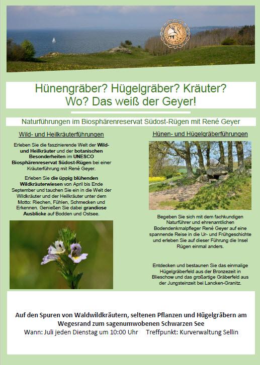 Hünengräber Sellin Biosphärenreservat Südost Rügen