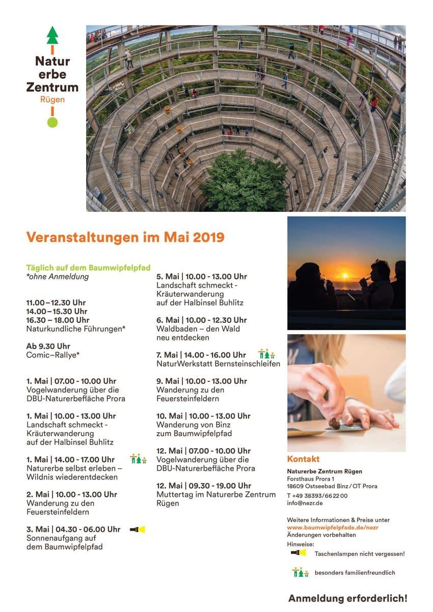 Naturerbezentrum Binz Prora Veranstaltunegen Mai 2019