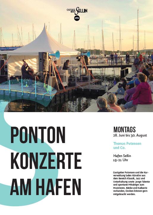 Ponton-Konzerte im Hafen Sellin