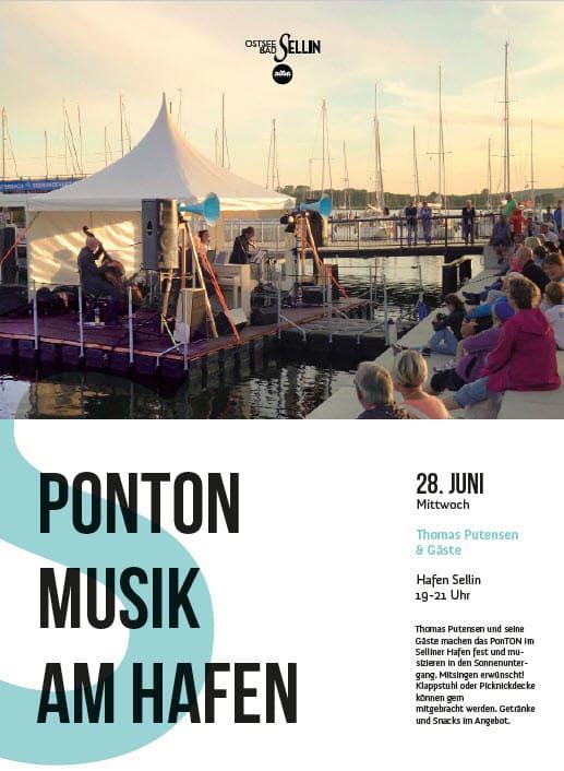 Ponton Musik Hafen Sellin