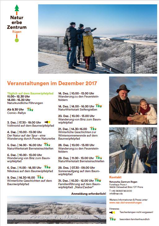 Programm Naturerbezentrum Prora Dezember 2017