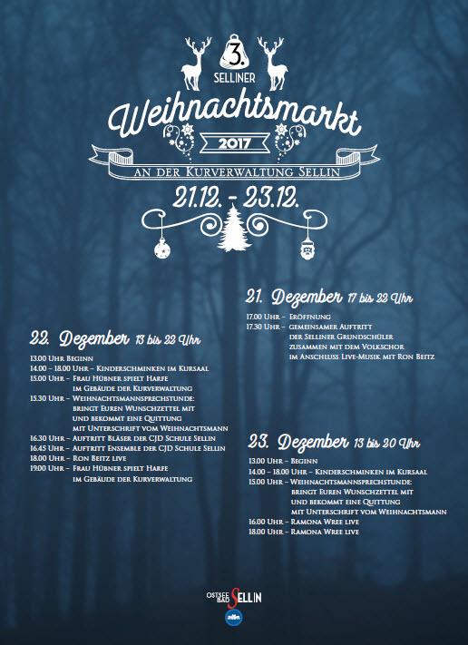 Programm Weihnachtsmarkt 2017