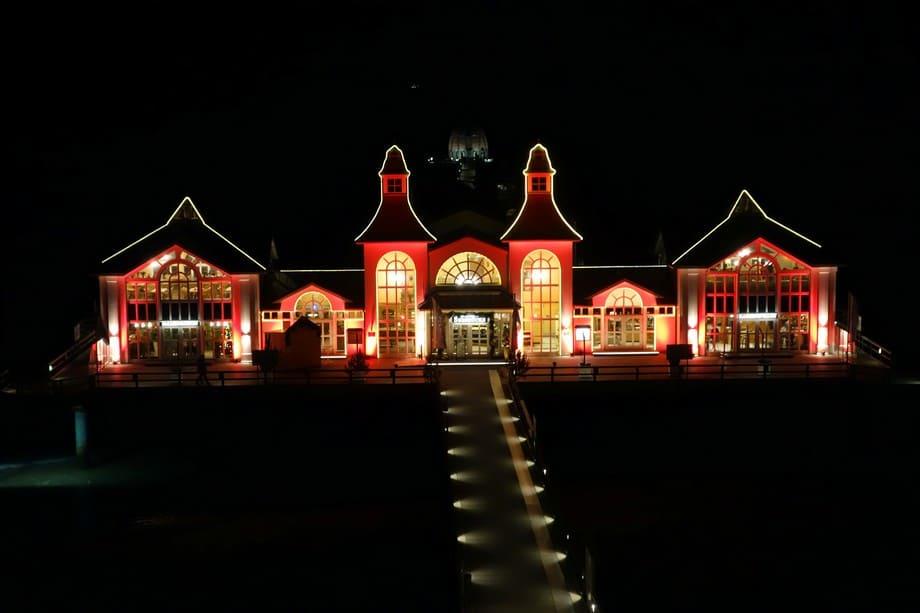 Auch im Winter ist die Seebrücke ein tolles Fotomotiv, gerade abends