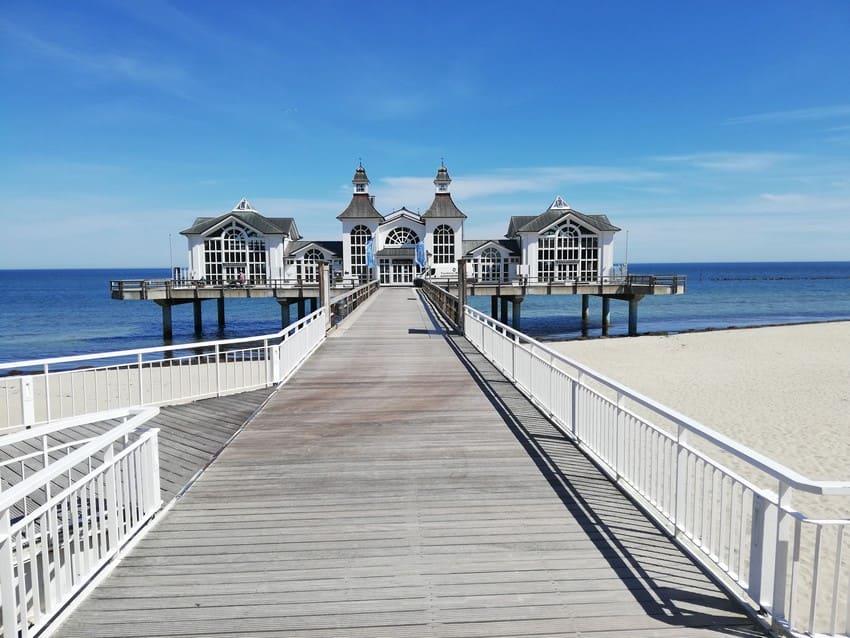 Seebrücke in Sellin im Mai 2021