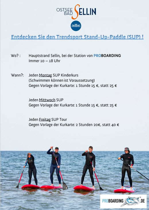 Stand-Up-Paddle (SUP) in Sellin