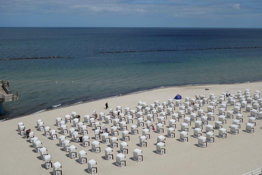 Strandkörbe am Selliner Hauptstrand