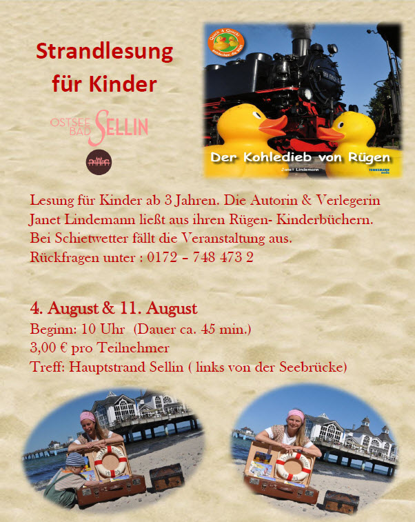 Strandlesung für Kinder August 2015