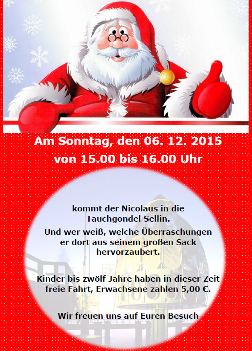 Tauchgondel Nikolausbesuch 2015