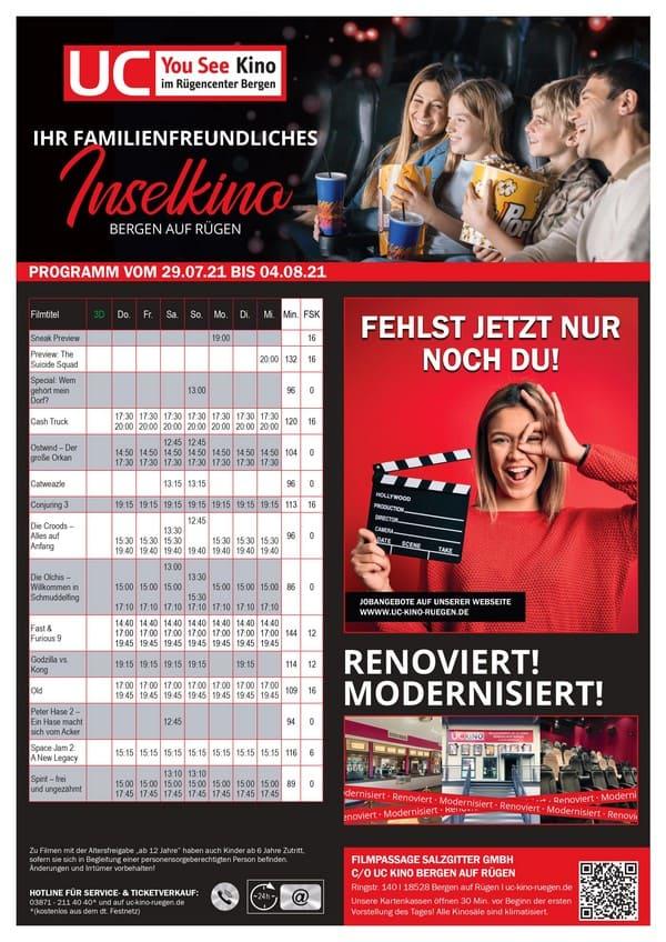 Kinoprogramm UC-Bergen Beispiel
